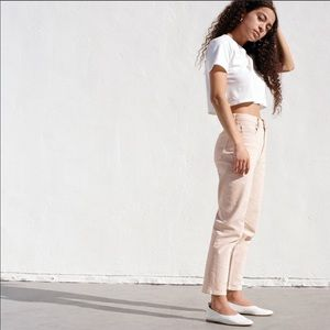 EVERLANE High Rise Straight Jeans Pale Pink sz 33